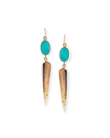 Ndani Light Horn Spike Earrings