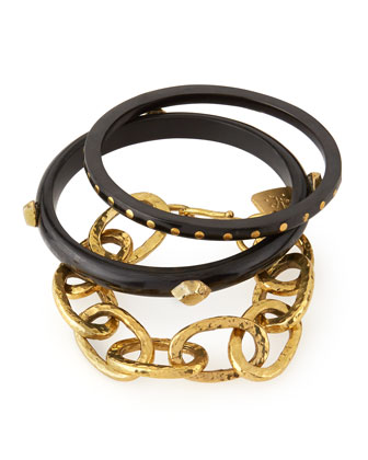 Mikufu Dark Horn Bracelets, Set of 3