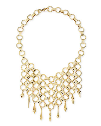 Thor Golden Bib Necklace