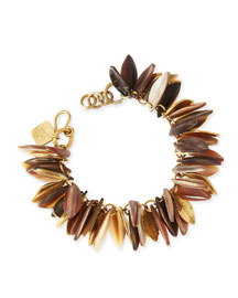 Tanzu Light Horn Chain Leaf Bracelet