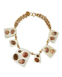 Sabini Light Horn Collar Necklace