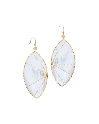 Isabella Mother-of-Pearl Marquise Drop Earrings