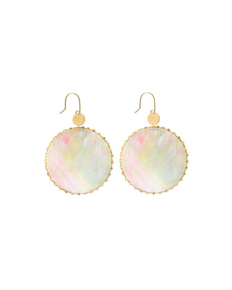 Cielo Mother-of-Pearl Disc Earrings