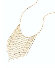 14k Long Fringe Necklace