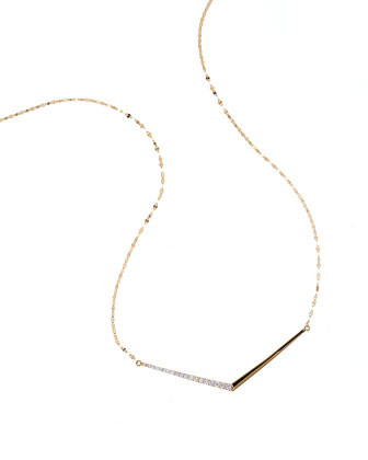 14k Mirage Edge Diamond Necklace