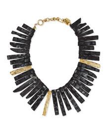 Fimbo Dark Horn & Bronze Collar Necklace