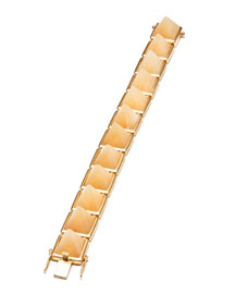 Gold-Plated Aragonite Pyramid Bracelet
