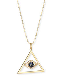 Evil Eye Pyramid Pendant Necklace