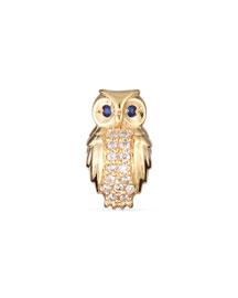 Owl Diamond Single Stud Earring
