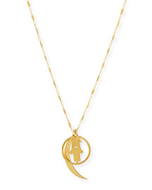 Cherie Gold Vermeil Long Charm Necklace