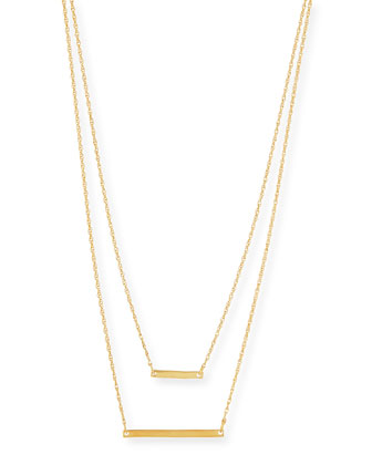 Cynthia Gold Vermeil Layered Bar Necklace