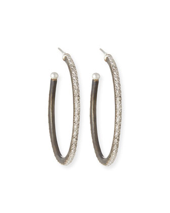 New World Scalloped-Edge Hoop Earrings