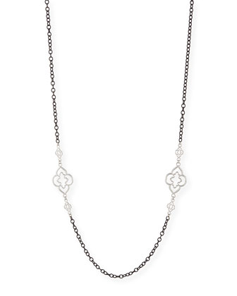 Heraldry Scroll Cable Chain Necklace, 37