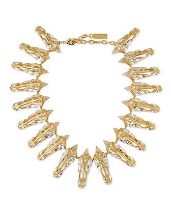 Prism Crystal Collar Necklace