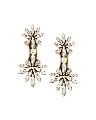 Devon Crystal Chain Drop Earrings