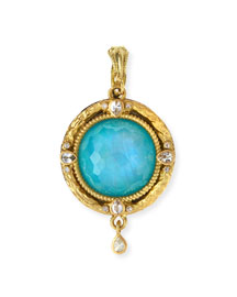 Midnight Turquoise/Moonstone Enhancer Pendant