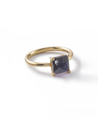 18k Rock Candy Iolite Square Ring