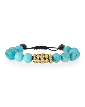 Old World Beaded Bracelet, Turquoise