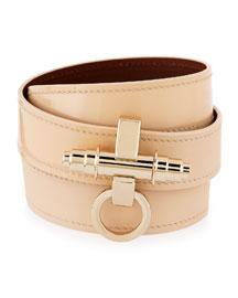 Obsedia Triple-Wrap Leather Bracelet, Beige