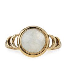 Brass Luna Reveal Moonstone Cuff