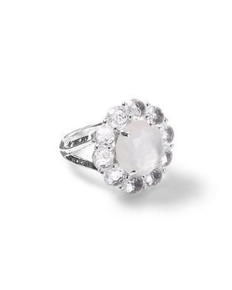Wonderland Silver Flower Quartz Ring