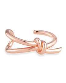 Rose-Tone Knot Bracelet, Medium