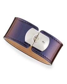 Amethyst Leather Padlock Bracelet