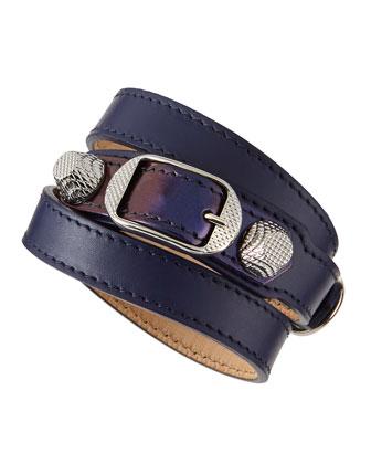 Giant 12 Leather Bracelet, Amethyst