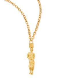 Golden Aquarius Zodiac Necklace, 36
