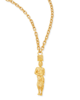 Golden Aquarius Zodiac Necklace, 36