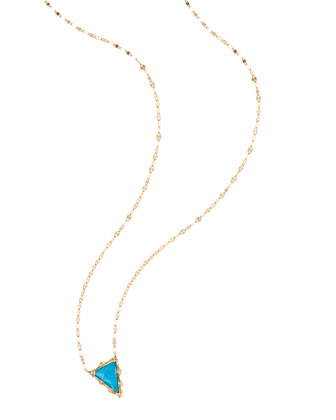 Bliss Turquoise Triangle Necklace