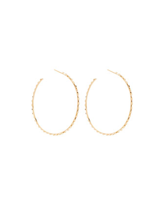 14k Large Glam Sunrise Hoop Earrings