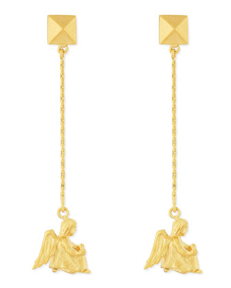 Golden Virgo Zodiac Earrings