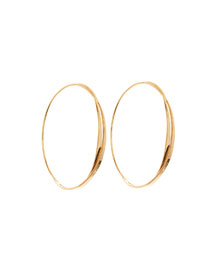 14k Small Twist Magic Hoop Earrings