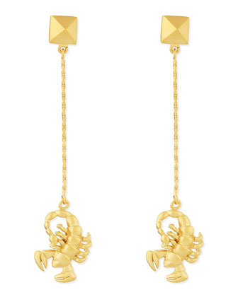 Golden Scorpio Zodiac Earrings