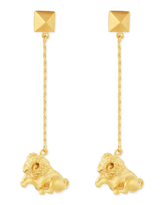 Golden Aries Zodiac Earrings