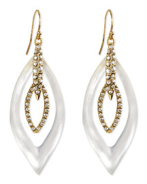 Jardin Mystere Lucite & Crystal Earrings