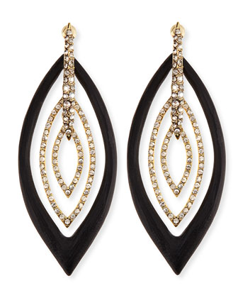 Pave Crystal & Lucite Orbital Post Earrings