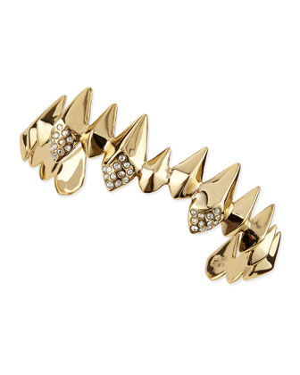 Golden Spear Cuff with Pave Crystals