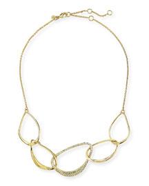 Liquid Golden 5-Link Orbiting Aura Necklace