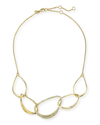 Liquid Golden 5-Link Orbiting Aura Necklace