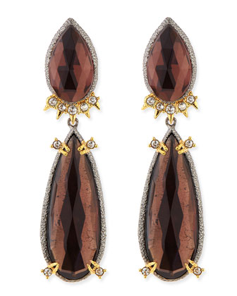 Elements Double-Pear Clip-On Earrings