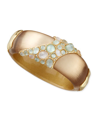 Encrusted Hinge Bangle Bracelet