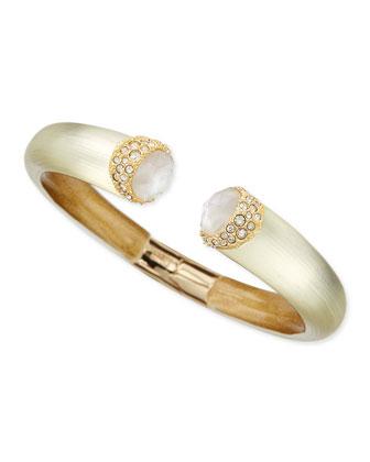 Encrusted Hinge Bracelet with Rose-Cut Doublets