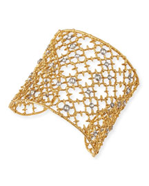 Gilded Muse d'Ore Crystal-Studded Cuff Bracelet
