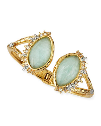 Gilded Muse d'Ore Fancy Amazonite Open Cuff
