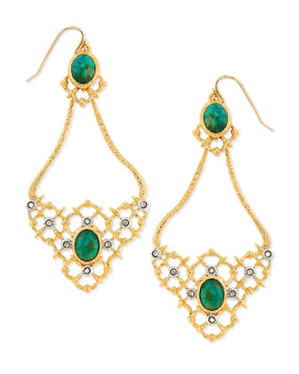 Gilded Muse d'Ore Oval Woven Earrings