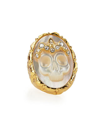 Gilded Muse d'Ore Skull Cameo Ring