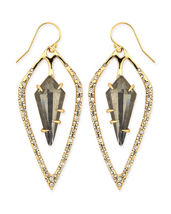 Miss Havisham Pyrite Doublet & Crystal Kite Earrings