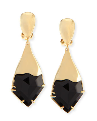 Miss Havisham Fancy Kite Clip-On Earrings, Black
